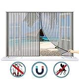 Fliegengitter Magnet Fenster Verschiedene Größen Insektenschutz Vorhang Anti-Moskito Insektenschutzgitter Stabil Klebestreifenhalten Dach Schiebe Tür - Brown 300x200 cm(WxH)