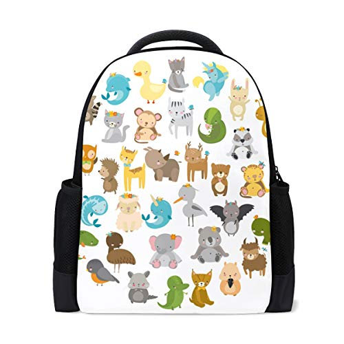 LIANCHENYI Sac à dos de voyage avec motif animal mignon zoo