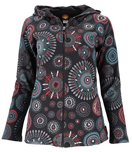 Guru-Shop Boho Hippie Chic Chaqueta, Chaqueta bordada, Mujer, Algodón, Boho chaquetas, chaleco ropa alternativa