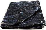 OYY Manufacture Lonas Haipeng Vision Protection Network Sunshine Shading Net cifrado Espesar Sunblocker Protection Cubiertas Planificador Balcón Negro (Color : Black, Size : 2.8x6.8m)
