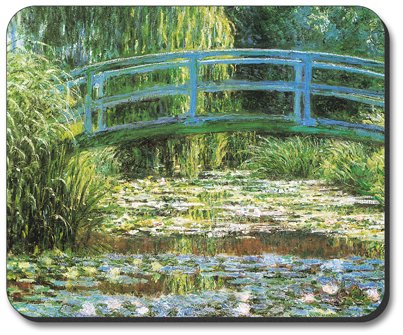 Monet: Japanese Footbridge Mouse Pad - by Art Plates