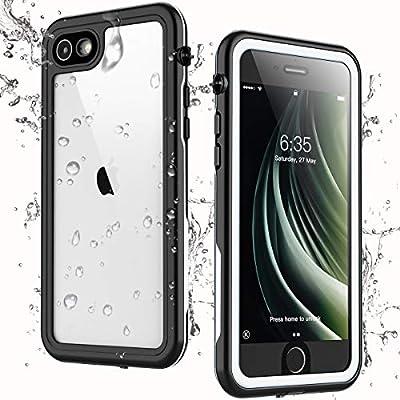 Singdo iPhone SE 2020 Waterproof Case,iPhone 7/8 Waterproof Case, Built-in Screen Protector Full Body Heavy Duty Shockproof IP68 Waterproof Case for iPhone SE 2020/7/8 4.7 inch (White)