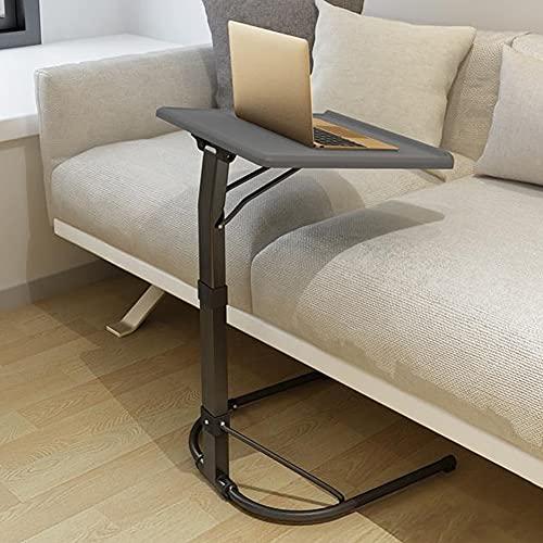 NICEME Klappbar Laptop Beistelltisch | Höhenverstellbar | Neigungsverstellbar | Couch-Tisch | Leicht und tragbar | für Bett, Sofa, Outdoor (Color : Dunkelgrau, Size : 43x43cm)