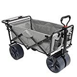 Mac Sports Collapsible Folding Outdoor Beach Wagon with Side Table, Perfect for Camping, Concerts,...