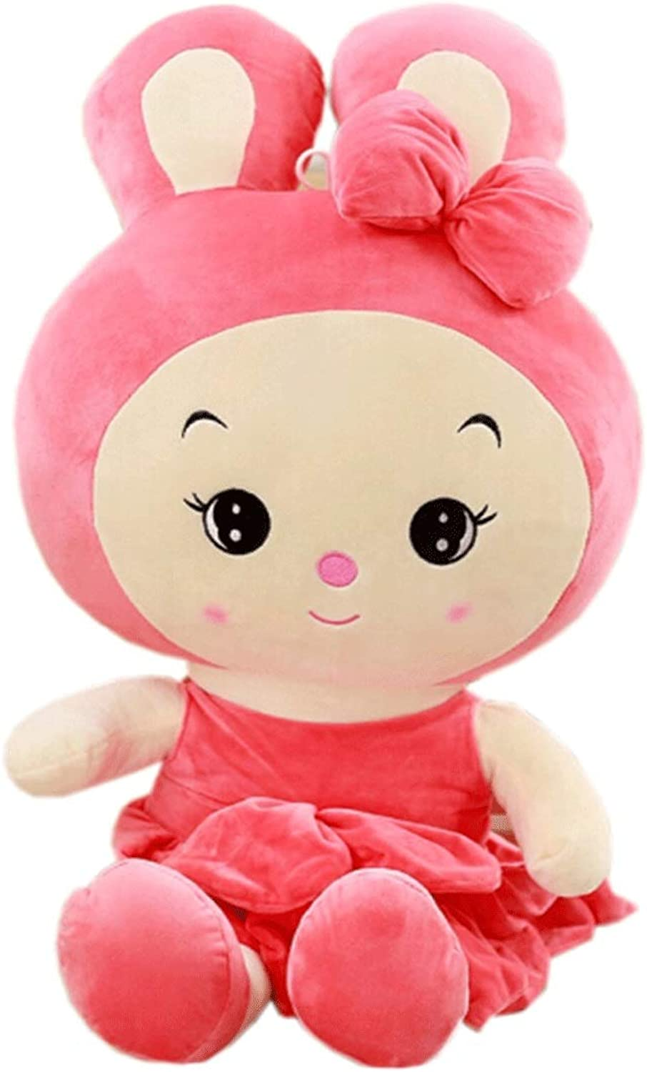 Plush Toy Rabbit, Doll Doll, Birthday Gift, Three Colors, MultiSize, Best Gift (Colore:Pale Pink, Dimensione: 60cm)