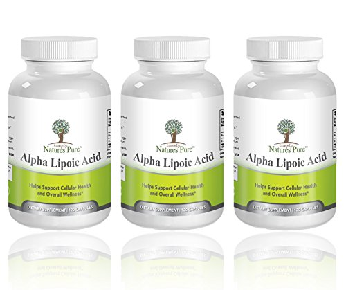 Simply Nature's Pure Alpha Lipoic Acid 600mg 120 Veggie Capsules RLA R-LA R-Lipoic S-Lipoic, ALA, Thioctic Acid 4 Month Supply