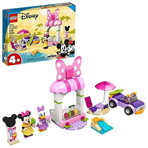 LEGO Disney Mickey and Friends Minnie Mouse's Ice Cream Shop 10773 Building Kit; Fun Toy That Makes The Best Gift; New 2021 (100 Pieces)