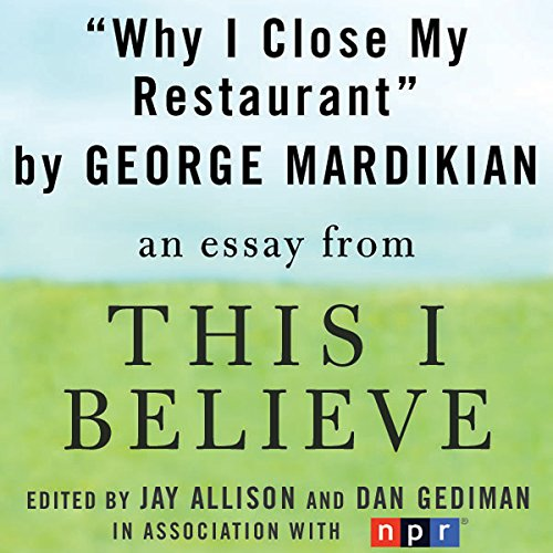 Why I Close My Restaurant audiobook cover art