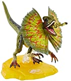 Jurassic World Amber Collection Dilophosaurus 6-in Collectible Dinosaur Action Figure with Movable Joints, Swappable Frill & Stand for Display; for Ages 8 Years Old & Up