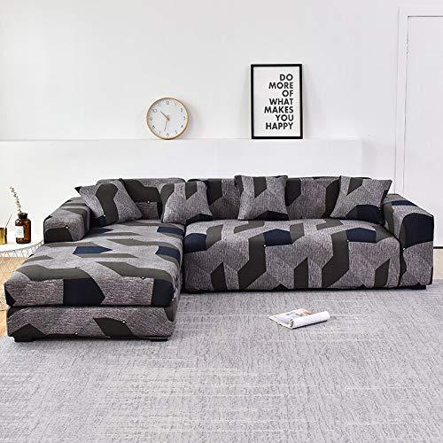 WXQY Funda de sofá Floral para Sala de Estar, Funda de sofá reclinable elástica, Funda de sofá elástica, Funda de sofá en Forma de L, Toalla de sofá A7, 4 plazas