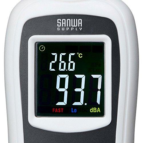 サンワサプライデジタル騒音計(騒音・温度計測可能)小型CHE-SD1