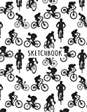 Mountain Bike Sketchbook: Mountain Bike Blank Page Sketchbook To Write Notes, Notepad, To Do Lists, Sketching, Mountain Bike Pattern Sketch Drawing Design