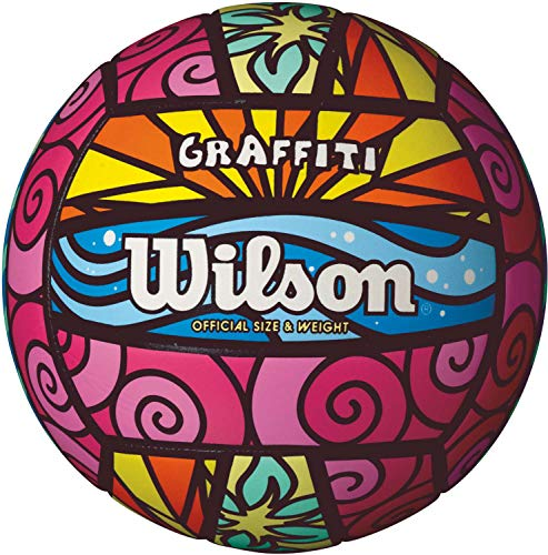 Wilson Graffiti Volleyball- Pink/Blue/Yellow