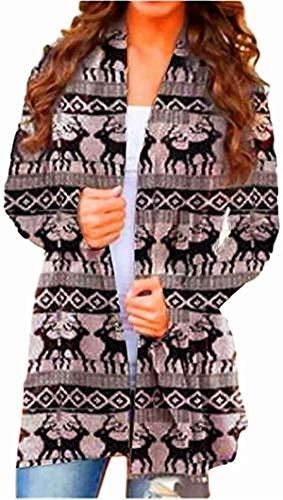 DIMANNU Women's Halloween Cardigan Casual Cat Pumpkin Animal Print Long Sleeve Open Front Loose Outerwear Autumn Plus Size