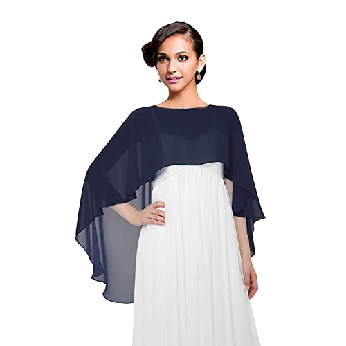 4f426a3931 Wedding Capes Womens Soft Chiffon Shrug Bridal Long Shawl and Wraps