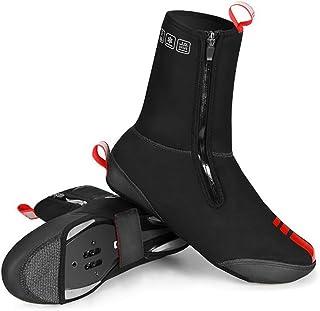 BSTTAI Fiets-overschoenen, Thermo wielersport MTB CX overschoenen, fietsschoenen warm winddicht neopreen regen sneeuw boot...