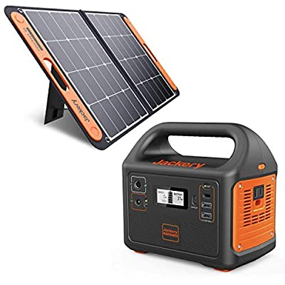 Jackery Explorer 160 Solar Generator, 167Wh Lithium Battery Solar Generator Backup Power Supply with 110V/100W(Peak 150W) AC Outlet for Outdoors Camping Fishing Emergency