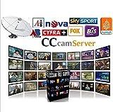ARBUYSHOP Mejor Cccam Europa Cline servidor por 1 año por satélite Decodificador España Reino Unido Alemania Francia Italia con DHL China que envía