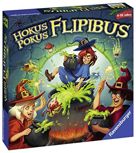 Ravensburger Kinderspiele 20355 - Hokus Pokus Flipibus  - Aktionsspiel mit Springeffekt für Kinder ab 6 Jahren
