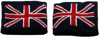 WakawakaC Great Britain Union Jack Sweatband Wristband Pair for Sports and Fashion