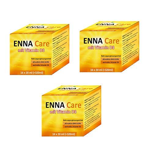 3er Set ENNA Care® mit VITAMIN D3, DHA +EPA - 3x (16 x 20 ml) - Nahrungsergänzungsmittel