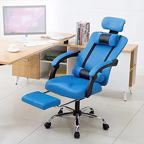 Sedia da scrivania Home Office Sedia Comoda Schienale reclinabile Sedia da Ufficio Sedia ergonomica da Ufficio con poggiapiedi Regolabile