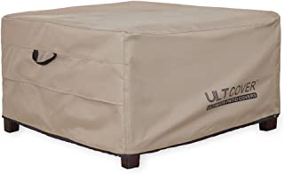 ULTCOVER Waterproof Patio Ottoman Cover Square Outdoor Side Table Furniture Covers Size 40L x 30W x 20H inch