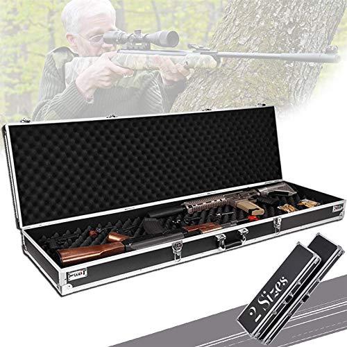 HTDHS Caja de arma de aluminio, rifle duro de la pistola con algodón de onda, bloqueo de cobre y bloqueo de contraseña, diseño de ángulo de envoltura grande, fundas de rifle duro para rifle, pesca, de