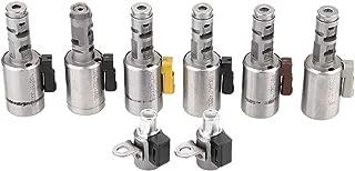 Qii lu 8Pcs Aluminum + ABS Car Transmission Solenoid Kit, Transmission Solenoid Kit Car Transmission Solenoid for SAAB SKODA 09G TF60SN