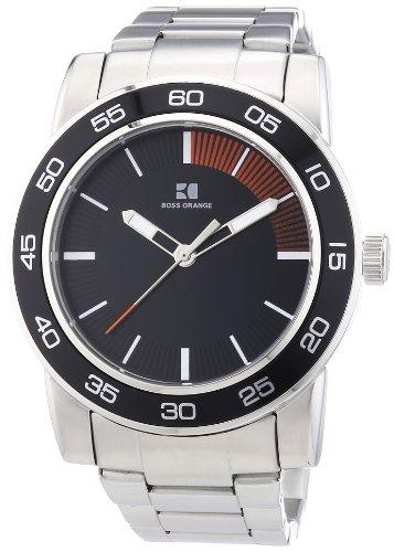 Boss Orange 1512859 - Reloj analógico de Cuarzo para Hombre con Correa de Acero Inoxidable, Color Plateado