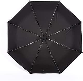 AUWANGAOFEI 2019 New Titanium Silver Umbrella 8 Bone Sunscreen Fashion Rain Dual-use Sun Umbrella (Color : Black)