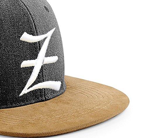 Morefaz Snapback Cap Toit en suède Casquette de Baseball Bonnet Chapeau Snap Back 3D Gothique A-Z (Z)