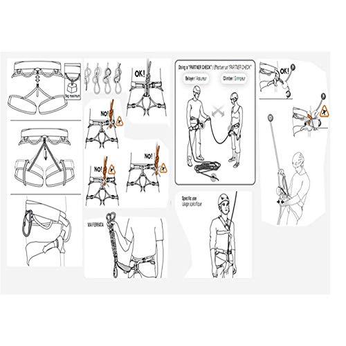 zvcv Half Body Safety Rock Climbing, Protect Waist Half Body Harnesses, Widen Harness, For Tree Rock Climbing