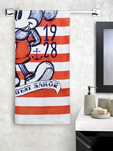Spaces Cotton Bath Towel 380 GSM (1 Piece, Red, White)