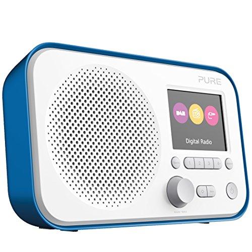 Pure Elan E3 tragbares Digitalradio (DAB/DAB+ Digital und UKW-Radio mit Weckfunktionen, Küchen- und Sleep-Timer, 2,8-Zoll-TFT-Farbdisplay, 40 Senderspeicherplätzen, AUX), Blau
