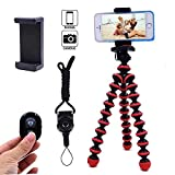 Phone Tripod, Ibeston Octopus Tripod for iPhone/Universal Smartphone/Cell Phone/Camera Arbitrary Installed with Remote
