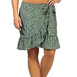 Only ONLOLIVIA Wrap Skirt WVN Noos Falda, Verde Chino/AOP: Foco Negro, L para Mujer