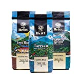 Café Britt - Costa Rican Origins Coffee Bundle (12 oz.) (3-Pack) (Tarrazú, Tres Ríos & Poás) - Ground, Arabica Coffee, Kosher, Gluten Free, Gourmet & Medium Light & Dark Roast (1 Year Shelf-Life)