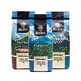 Café Britt® - Costa Rican Origins Coffee Bundle (12 oz.) (3-Pack) (Tarrazú, Tres Ríos & Poás) - Ground, Arabica Coffee, Kosher, Gluten Free, Gourmet & Medium Light & Dark Roast