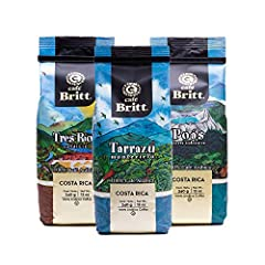 SINGLE-ORIGIN COFFEES - Selection of medium roast coffees from Tarrazú, Tres Ríos, and Poás, each expertly roasted to highlight regional differences OVER 30 YEARS OF EXPERIENCE - Founded in 1985, Café Britt is Costa Rica's premier gourmet coffee comp...