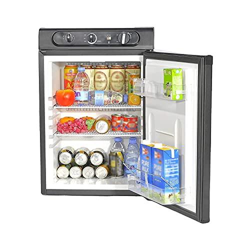 Smad Réfrigérateur Camping 60L, Mini Réfrigérateur Silencieux, Frigo Trimixte 12V/220V/Gaz, pour...