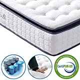 <span class='highlight'>Vesgantti</span> 5FT <span class='highlight'>King</span> Size <span class='highlight'>Mattress</span>, 10.6 Inch Pocket Sprung <span class='highlight'>Mattress</span> <span class='highlight'>King</span> Size with Breathable <span class='highlight'>Foam</span> and Individually Pocket Spring - Medium, Upgraded Pillow Top Collection