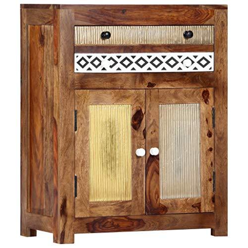 vidaXL Sheesham-Holz Massiv Beistellschrank Sideboard Kommode Anrichte Schrank Mehrzweckschrank Flurkommode Standschrank Palisander 60x30x75cm