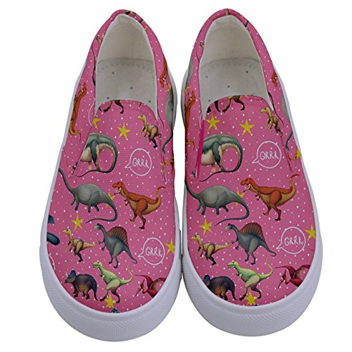 Girls Dinosaur Canvas Slip-on Shoes