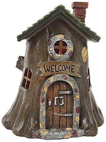 Casas de hadas con luz para jardines de hadas - Arbol de bienvenida