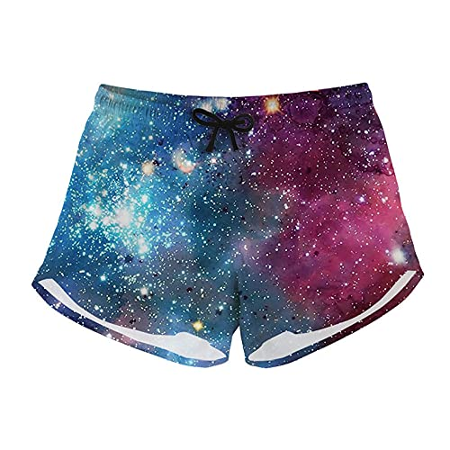 zzzddd Pantalones Cortos De Mujer, Starry Sky Printed Quick Dry Beach Board Swim Trunks Ladies Breathable Swimwear Girls For Workout Gym Sport Hawaiian Casual Short Pants,S