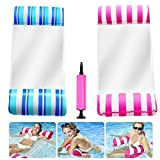 PERZCARE Inflatable Pool Floats for Adults - 2 Packs Portable Pool Floats with a Manual Air Pump,Comfortable Inflatable Swimming Pools Lounger, Water Hammock Lounge(Saddle, Lounge Chair, Drifter)