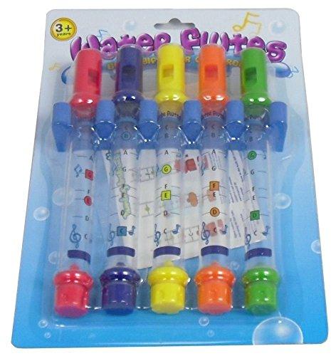 Playwrite Lot de 5 flûtes pour le bain Incite les enfants à aller au bain. Livré avec partitions.