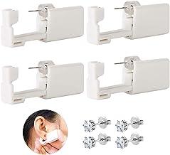 Ear Piercing Gun - Combofix 4 Pack Disposable Self Ear Piercing Kits Safety Ear Piercing Gun Kit Tool Ear Stud Gun for Pie...