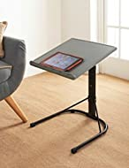 Spaceways Adjustable Table. This versatile table features height and angle adjustment meaning it's ready for any task or function. It's easily portable too so you can work on the go. Dimensions: W43 x D43 x H61-73cm (Approx.) Colour: Grey & Black